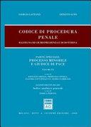 Codice di procedura penale. Rassegna di giurisprudenza e di dottrina