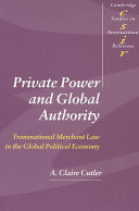 Private Power and Global Authority ebook