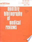 Monthly Bibliography of Medical Reviews