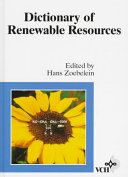Dictionary of Renewable Resources