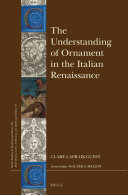 The Understanding of Ornament in the Italian Renaissance