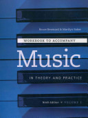 Workbook t/a Music in Theory and Practice