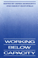 Working Below Capacity