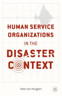 Pdf Human Service Organizations in the Disaster Context Telecharger