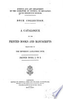 Dyce Collection: Printed books, L to Z