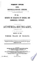 Diplomatic and Consular Reports. Miscellaneous Series