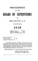 Proceedings of the Erie County Legislature