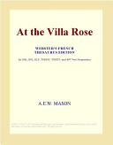 Read Online At the Villa Rose (Webster's French Thesaurus Edition) For Free