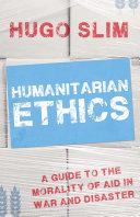 Humanitarian Ethics Pdf/ePub eBook