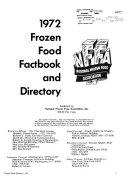 Frozen Food Factbook & Directory