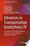 Advances in Transportation Geotechnics IV Book
