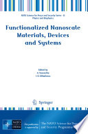 Functionalized Nanoscale Materials Devices And Systems Book PDF