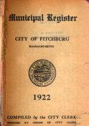 Municipal Register City Of Fitchburg Massachusetts
