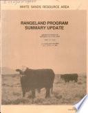 White Sands Resource Area Rangeland Program Summary Update Book PDF