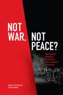 Not War, Not Peace? Pdf/ePub eBook