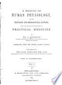 A Manual of Human Physiology Book