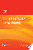 Eco  and Renewable Energy Materials