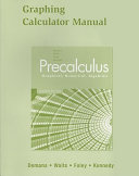 Graphing Calculator Manual for Precalculus Book