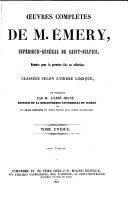 Oeuvres complètes de M. Émery, supérieur-général de Saint-Sulpice