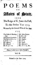 Poems on Affairs of State  etc  vol  2