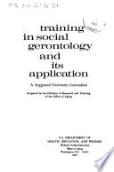 Training in Social Gerontology and Its Application