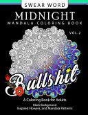 Swear Word Midnight Mandala Coloring Book Vol  2 Book PDF