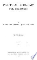Political Economy for Beginners by Dame Millicent Garrett Fawcett PDF