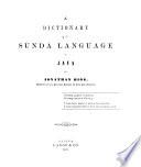 A Dictionary of the Sunda Language of Java