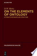 On The Elements Of Ontology Book PDF