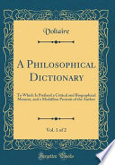 A Philosophical Dictionary, Vol. 1 of 2