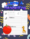 Letter A Handwriting Book PDF