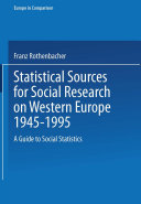 Pdf Statistical Sources for Social Research on Western Europe 1945–1995 Telecharger