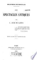 Les spectacles antiques
