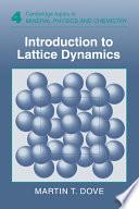 Introduction To Lattice Dynamics Book PDF