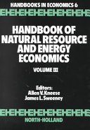 Handbook of Natural Resource and Energy Economics