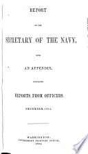 Report of the Secretary of the Navy Book