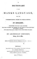 Pdf A Dictionary of the Manks Language