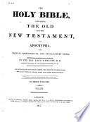 The Holy Bible Containing The Old And New Testament And Apocrypha