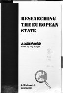 Researching the European State