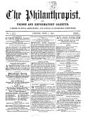 The Philanthropist, and prison and reformatory gazette. [Continued as] The Philanthropist, and social science gazette