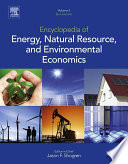 Encyclopedia of Energy, Natural Resource, and Environmental Economics