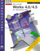 New Perspectives on Microsoft Works 4 0 4 5 Introductory    Enhanced