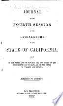 Journal Of The Session Of The Legislature Of The State Of California