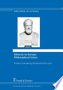 Rhetoric in Europe: Philosophical Issues