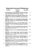 Bangladesh Journal of Mushroom