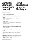 Canadian Electrical Engineering Journal