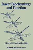 Insect Biochemistry and Function Pdf/ePub eBook