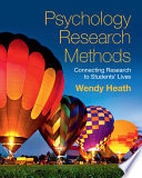 Psychology Research Methods Book
