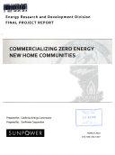 Commercializing Zero Energy New Home Communities Book