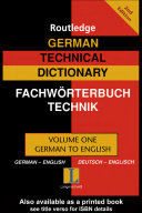 Routledge German Technical Dictionary, 2004